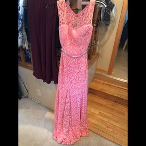 Fit and flare prom dress